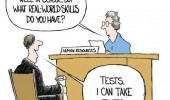student job interview real world skills can do tests comic funny pics pictures pic picture image photo images photos lol