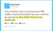 come funeral fbi outfits double life facebook status funny pics pictures pic picture image photo images photos lol