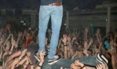 crowd surfing level expert man standing back funny pics pictures pic picture image photo images photos lol