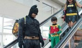 dark knight descends batman costume escalator funny pics pictures pic picture image photo images photos lol