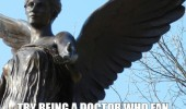 doctor who fan walk past weeping angel way work funny pics pictures pic picture image photo images photos lol
