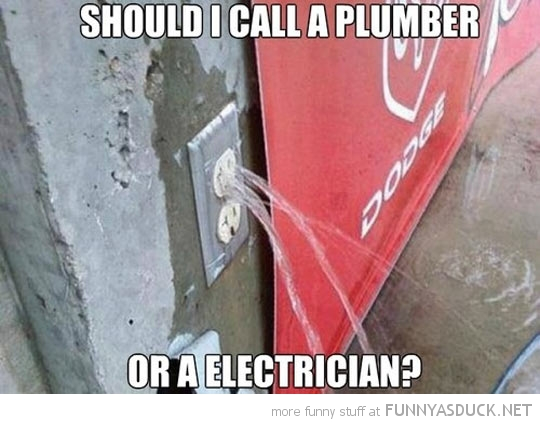 electricity socket water call electritian plumber funny pics pictures pic picture image photo images photos lol