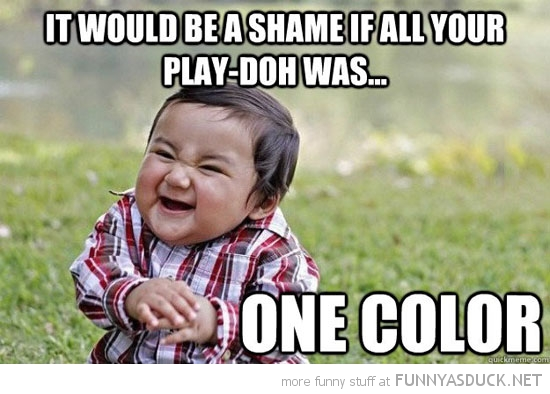 evil kid toddler nice play doh shame one color funny pics pictures pic picture image photo images photos lol