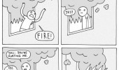 fire hurting me comic sorry funny pics pictures pic picture image photo images photos lol