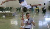 girl balancing boy acrobat reader funny pics pictures pic picture image photo images photos lol