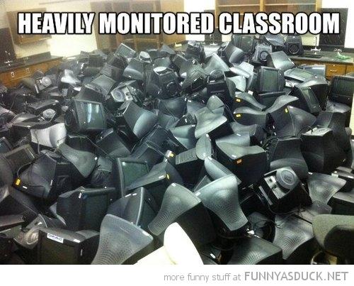 Heavily Monitored Classroom