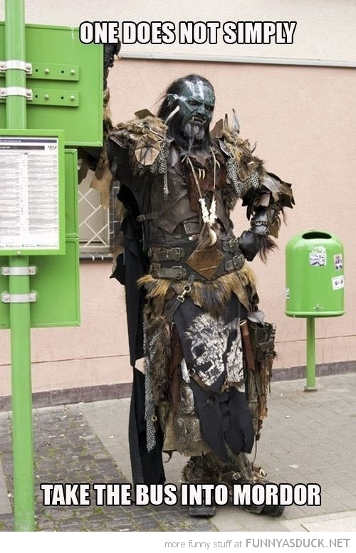 lord rings orc take bus into mordor funny pics pictures pic picture image photo images photos lol