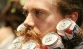 man beer cans beard beerd funny pics pictures pic picture image photo images photos lol