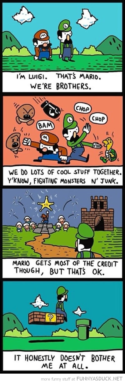 good guy luigi comic mario gaming nintendo funny pics pictures pic picture image photo images photos lol