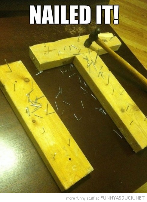 nailed it wood hammer letters funny pics pictures pic picture image photo images photos lol
