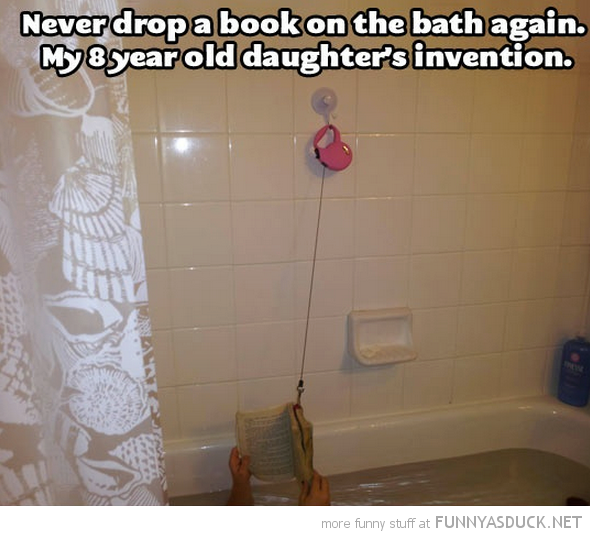 never drop book again bath dog leash lead funny pics pictures pic picture image photo images photos lol
