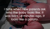newborn baby looks like potato quote funny pics pictures pic picture image photo images photos lol