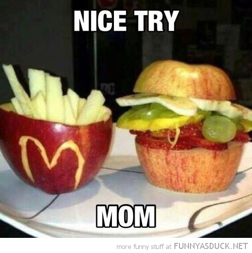 nice try mom apple carved mcdonalds funny pics pictures pic picture image photo images photos lol