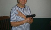 old woman grandma gun bingo night got real funny pics pictures pic picture image photo images photos lol