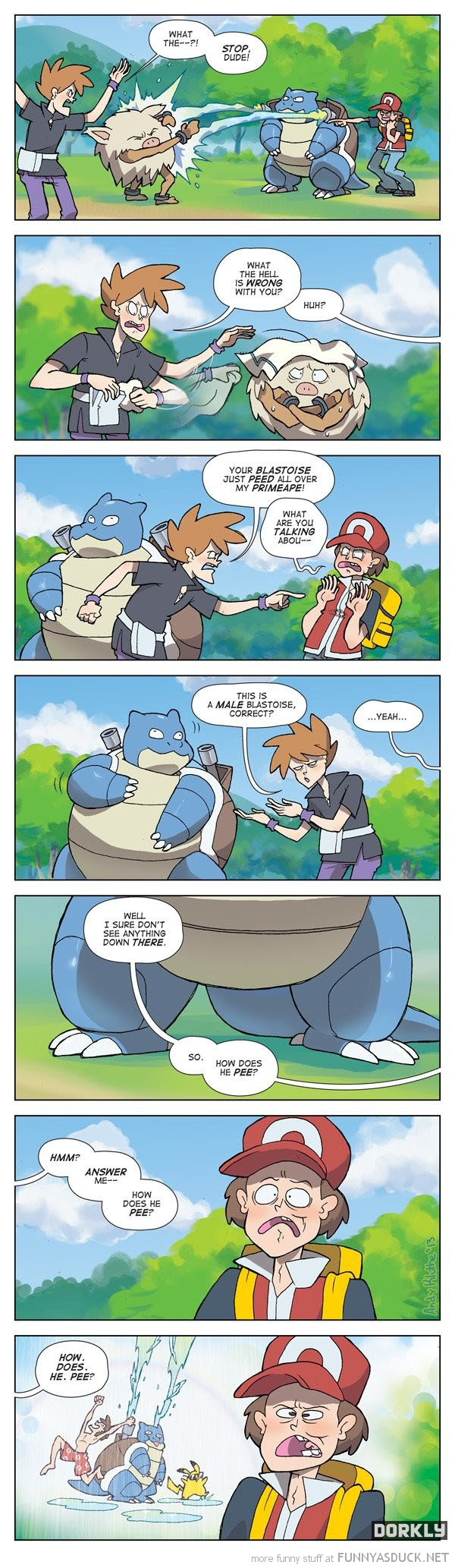 pokemon comic blastoise pee gaming nintendo funny pics pictures pic picture image photo images photos lol