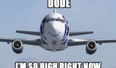 happy smiling plane dude so high right now funny pics pictures pic picture image photo images photos lol