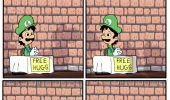 sucks to be weegie comic luigi mario nintendo gaming funny pics pictures pic picture image photo images photos lol