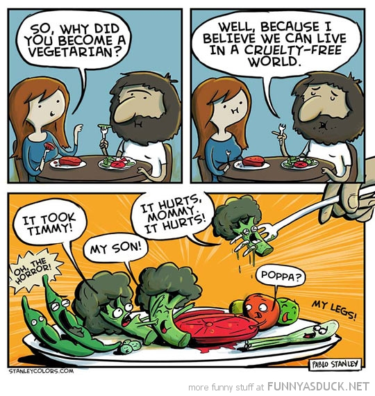 vegetarian food cruelty free world comic funny pics pictures pic picture image photo images photos lol