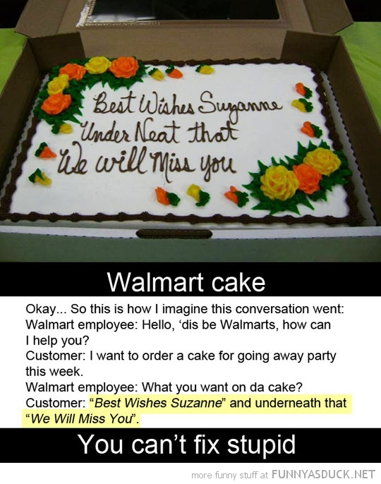 walmart fail cake can't fix stupid funny pics pictures pic picture image photo images photos lol
