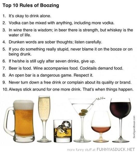 Rules Of Boozing