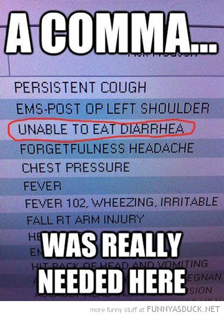 A Comma...