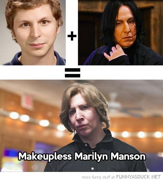 Makeupless Marilyn Manson
