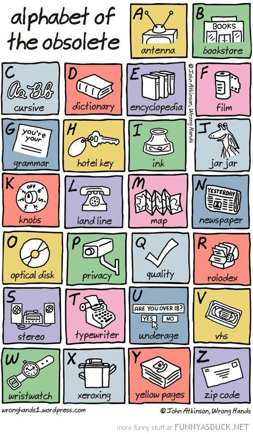 Alphabet Of The Obsolete