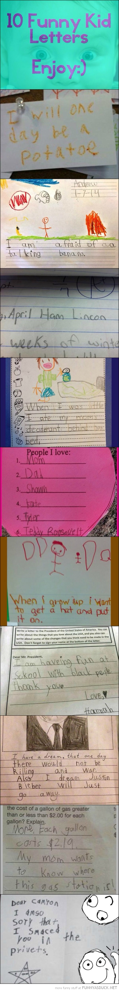 Funny Kids Letters