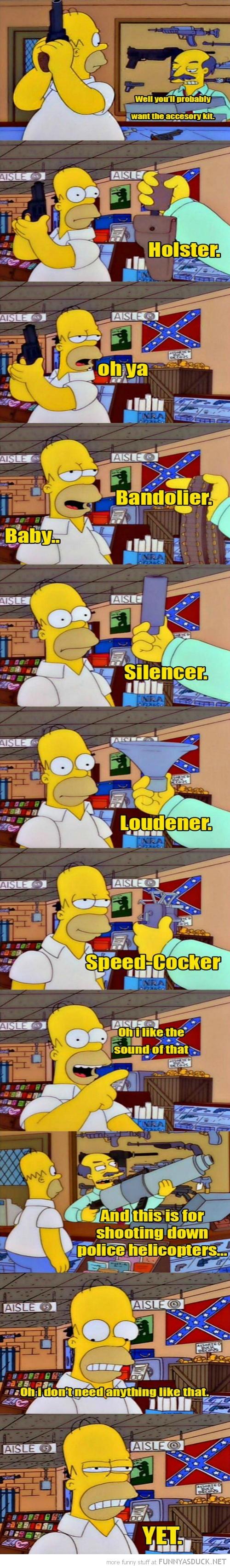 Homer Buys A Gun