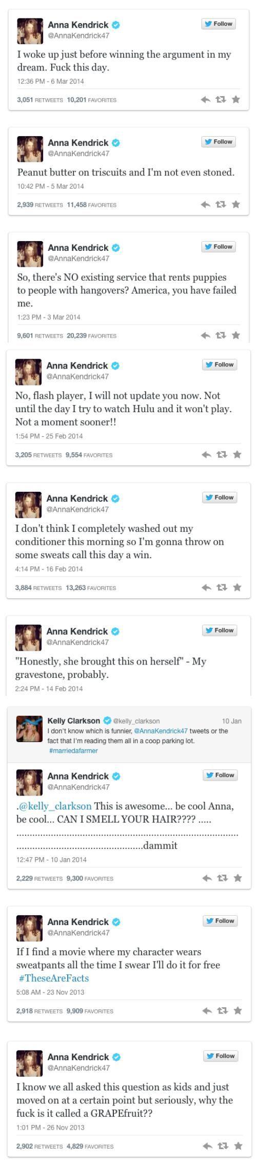 More Anna Kendrick Tweets