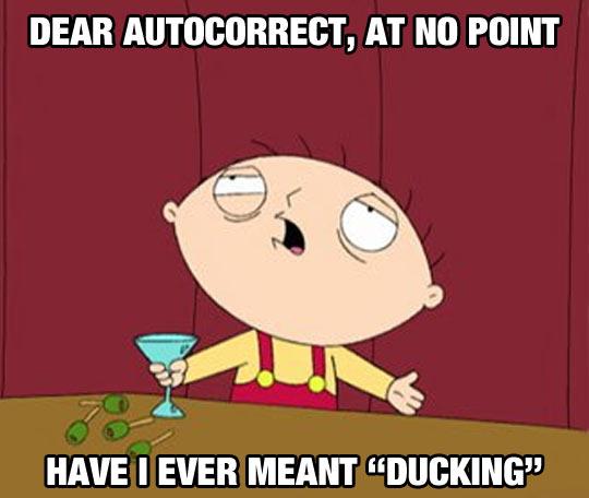 Dear Autocorrect