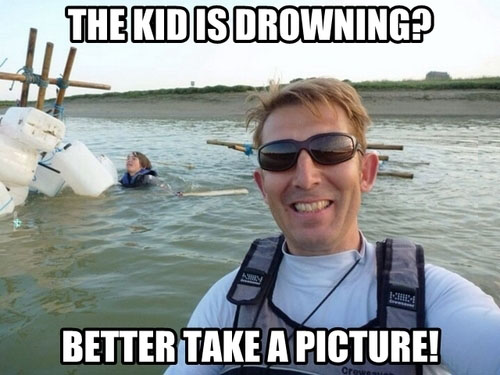 This Kid Is Drowning?