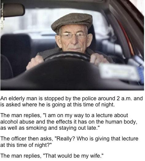 An Elderly Man...