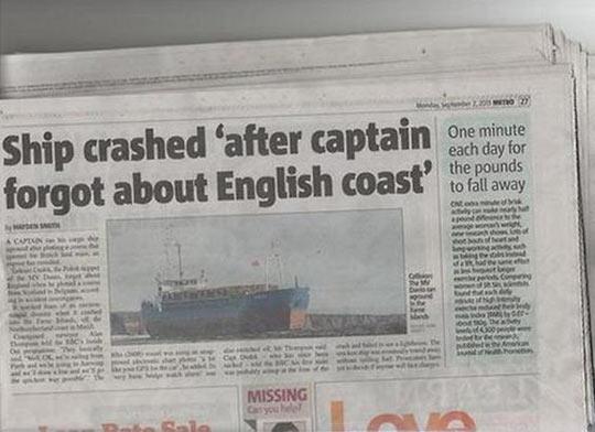 Ship Crashed