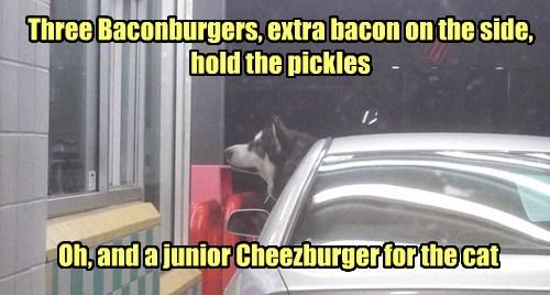 Three Baconburgers...
