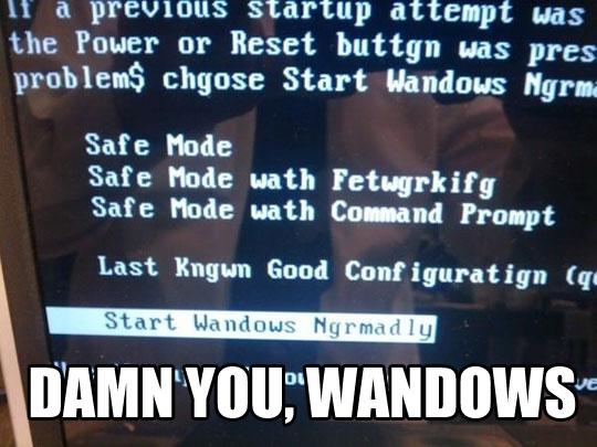 Wandows Error