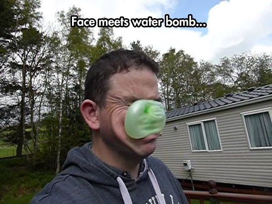 Face Meets Water Bomb