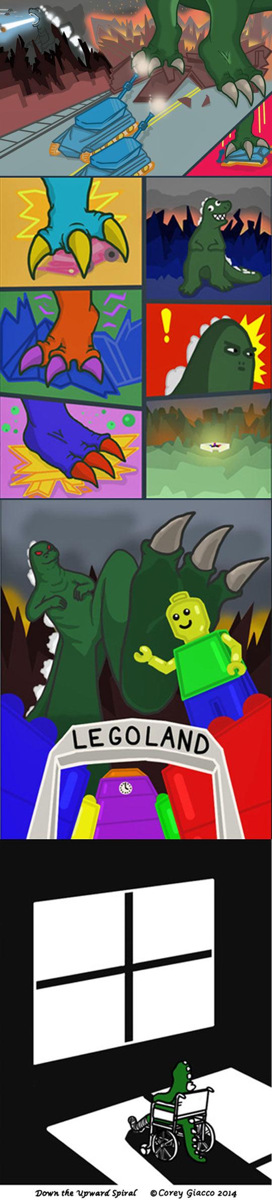 Godzilla At Legoland
