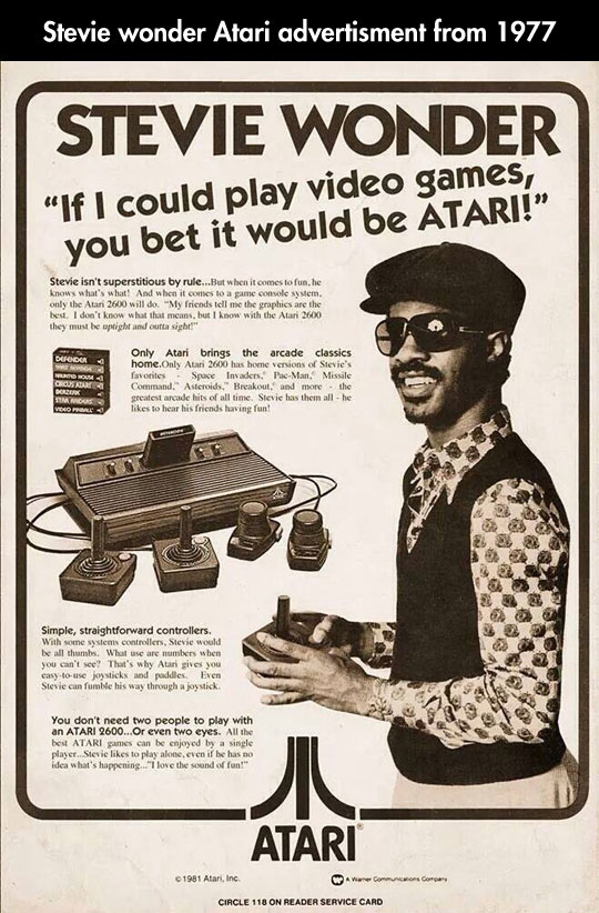 Old Atari Advert