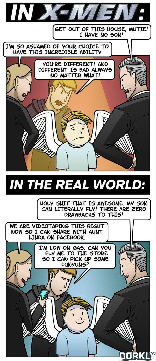 X-Men vs Real Life