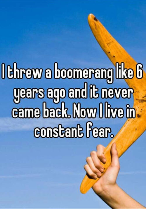 I Threw A Boomerang