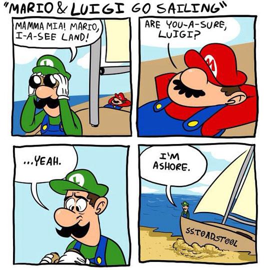 Mario & Luigi Go Sailing
