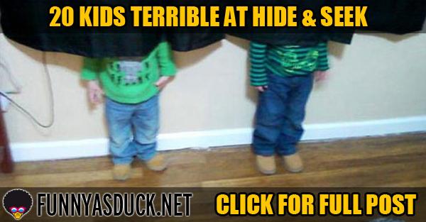 20 Kids Terrible At Hide & Seek