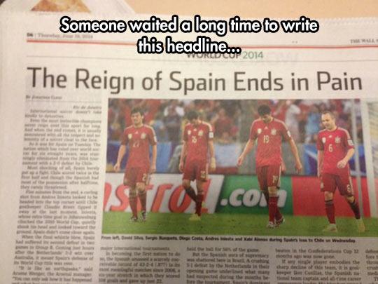 Headline Of The Year
