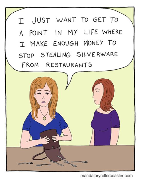 Stealing Silverware