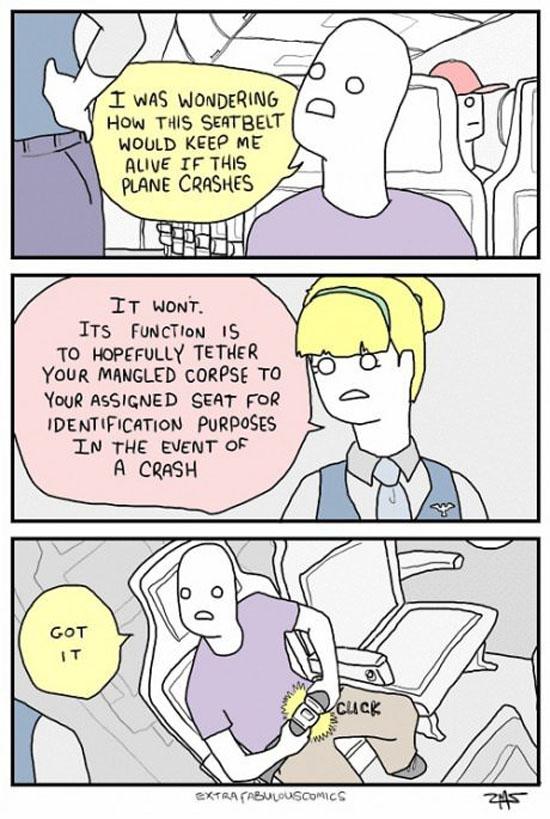 Seatbelts On A Plane