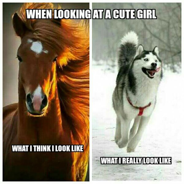Looking At A Cute Girl