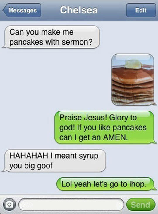 Pancakes With Sermon