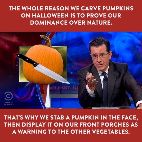 The Reason We Carve Pumpkins