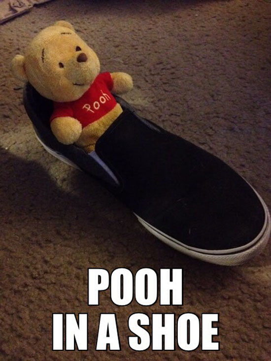 Pooh In A Shoe